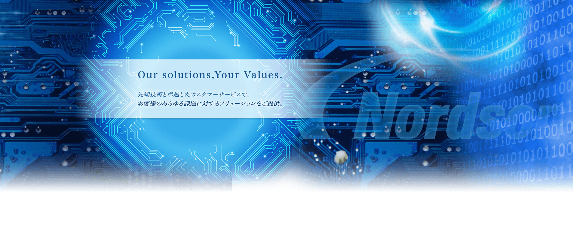 Our solutions,Your Values.